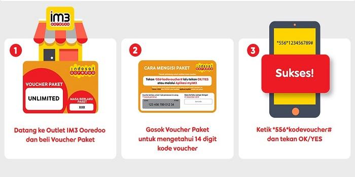 Cara Mengisi Voucher Indosat