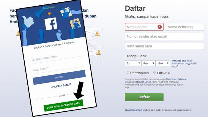 Gunakan Akun Facebook Pribadi